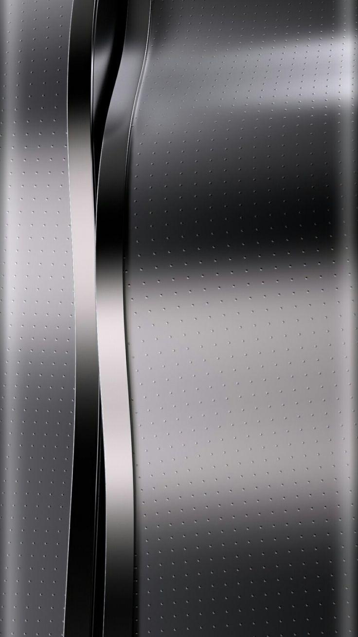 Silver and Black Chrome Wallpaper Wallpaper edge