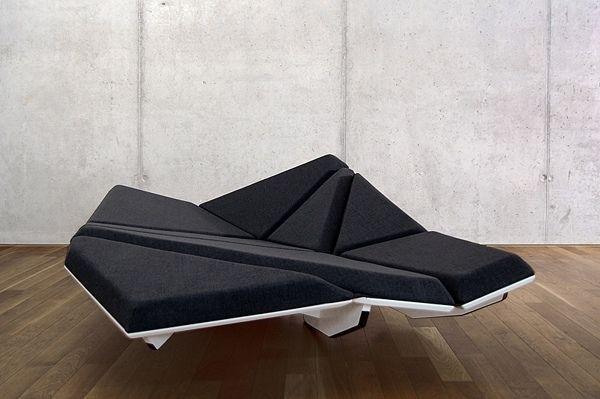 Canapé Lit dernier dessin noir blanc