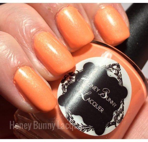Candy Corn – halloween nail polish – 5 free – handmade – indie nail polish – n…