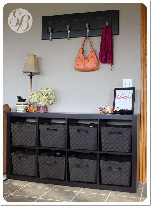Entrance Way / Mudroom Makeover, Lots Of Storage Space!