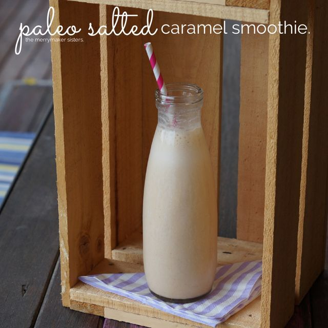 Probably the best paleo smoothie in the world! Try this Paleo Salted Caramel Smoothie. We know you'll thank us! Absolutely bloody amazing!