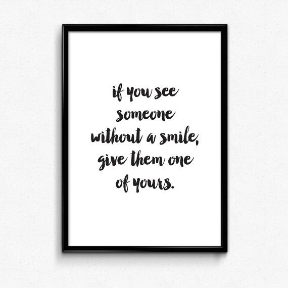 See someone without a smile. A4 nursery print by osotweedesigns