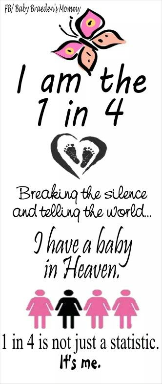 Loss of a baby happens to 1 in 4 people. Break the silence and raise awareness!