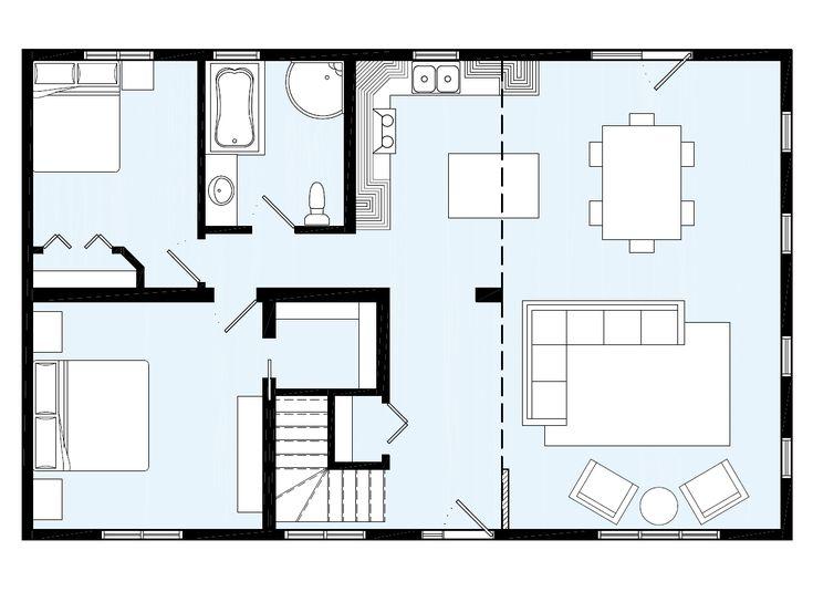 Les 25 meilleures id es de la cat gorie modele maison for Plan maison plain pied 70m2