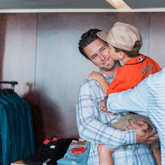 My heart be still... Buster Posey and son