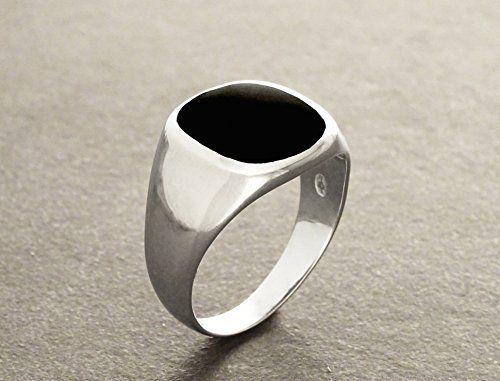 Anillos de Gran Tamaño - Anillo Hipster - anillo de ónix negro - plata 925 - anillo de hombres modernos - piedra preciosa de ónix - anillo de signet - joyas hombre - anillo de hombres - anillo negro.