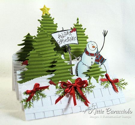 Love this trifold Snowman card... would like to use these in a Side Step Card.