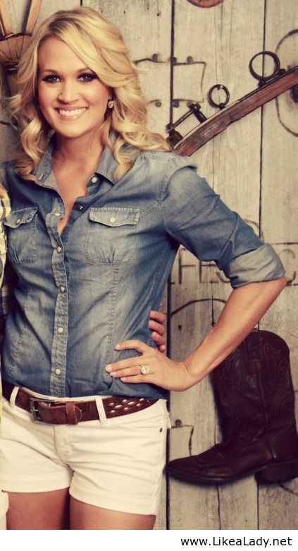 Carrie Underwood Country Style / Singer / Celebrity/ #christian #inspiring #beautiful