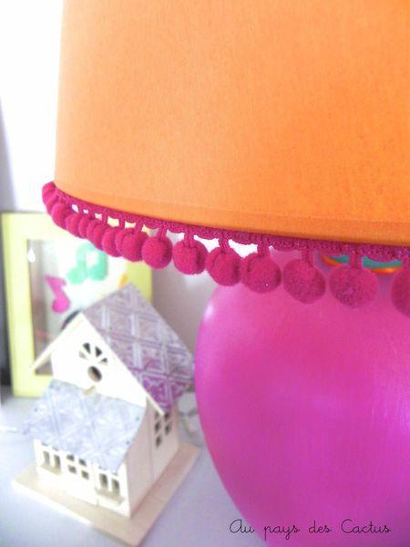Customiser abat-jour pompons headband dentelle lurex Mercerie Chic Au pays des Cactus 2