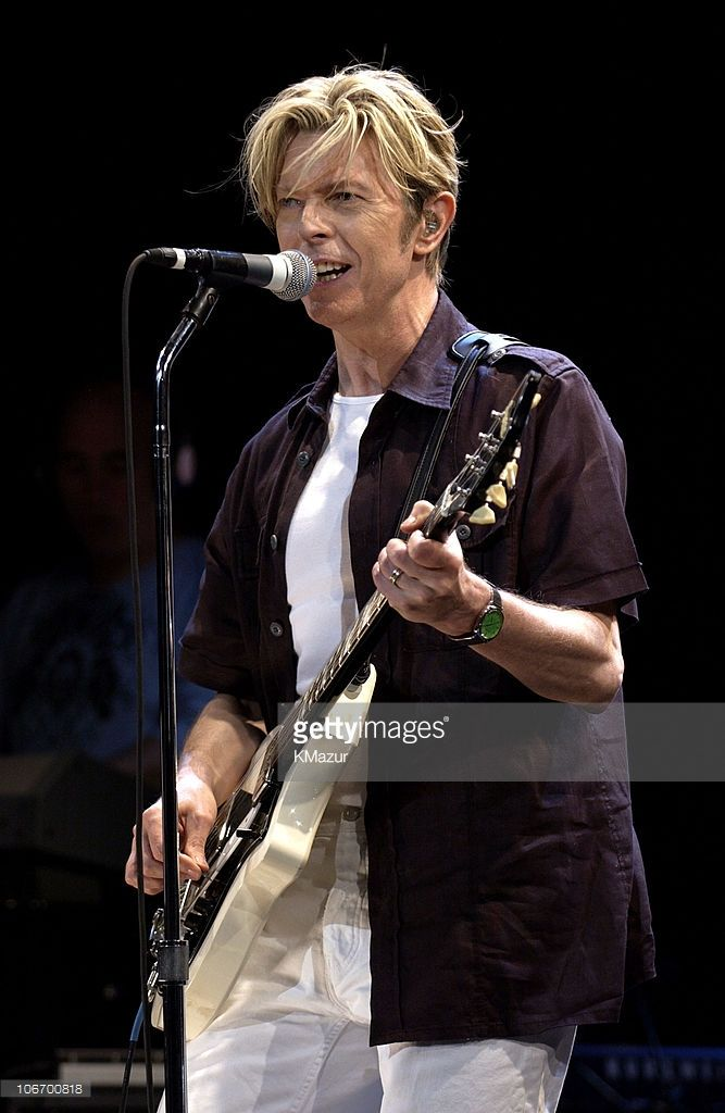 David Bowie during David Bowie Gives Fans a Strong Dose of 'A Reality Tour' at Special Poughkeepsie Warm Up Show For His Upcoming World Tour at The Chance Nghtclub in Poughkeepsie, New York, United States.
