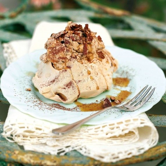 Coffee Pavlovas with Cappuccino Cream