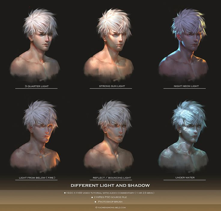 Light and shadow ( tutorial ) by YuCheng @ pixiv