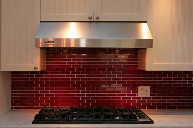red subway tile backsplash kitchen ideas pinterest
