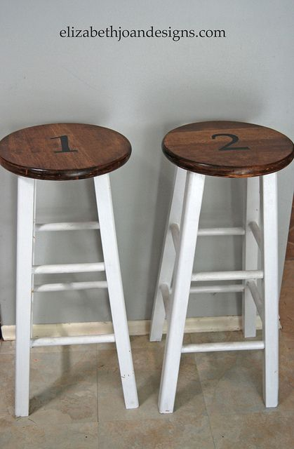 stenciled Counter Stools 5 by Elizabeth Joan Designs, via Flickr