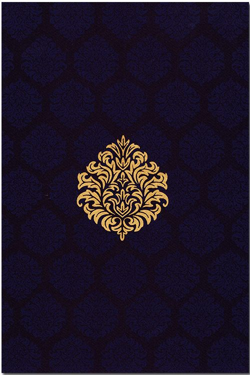 The beauty and grace of this silk satin invitation reveals neat and attractive arrangement of beautiful damask designs in front with a similar light background effect, available in various colors, while a text on the envelope and card front is customizable as per individual requirement. It can be customized as per your requirement.