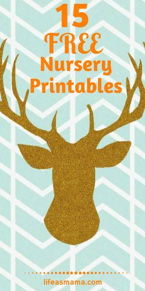15 Free Nursery Printables