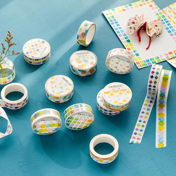 >> Click to Buy << 7m*15mm Cute Kawaii Geometry Washi Tape Sticker For Scrapbooking Cute Masking Tape For Photo Album Diary Free Shipping 1366 #Affiliate