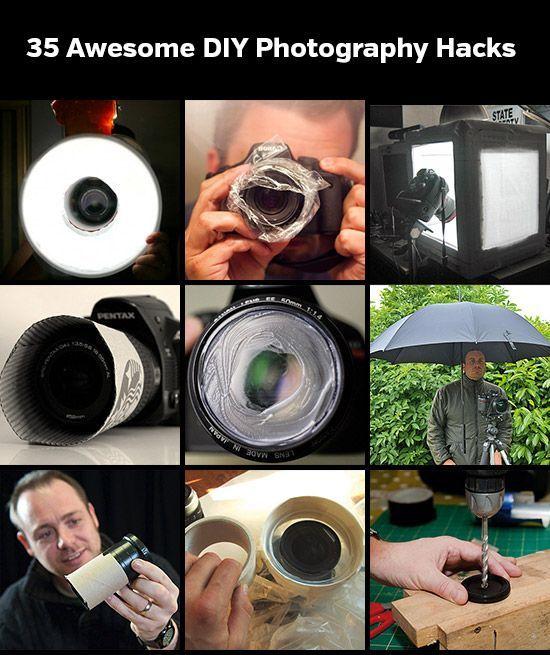 35 #DIY #Photography #Hacks die jeder kennen sollte! Es wird nicht immer teures Equipment benötigt um atemberaubende Fotos zu machen! :)