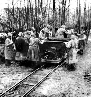 1939 - Female prisoners incarcerated at the Ravensbruck Concentration Camp in Germany.