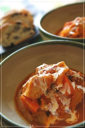 トマトの酸味で食欲増進♡鶏胸肉と白菜のトマトシチュー おしゃれな白菜シチューのレシピ