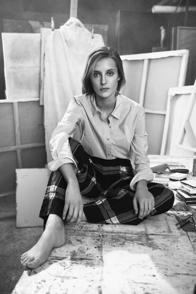 Olympia Campbell pose for Club Monaco Spring Summer 2016 Campaign