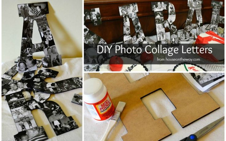 I'm sharing a tutorial on creating Diy photo collage letters. I created photo collage letters for my daughter's graduation party. They are easy, fun and cool.