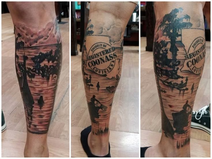 Swamp scene tattoo   – tattoo