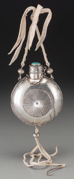 Navajo Tobacco Flask. c. 1965...