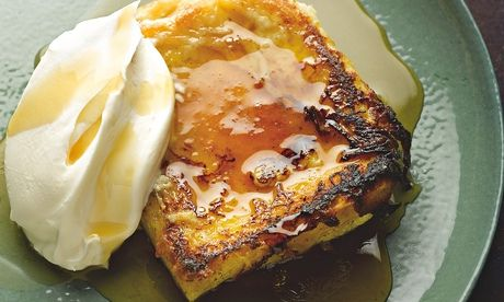 Yotam Ottolenghi's super french toast: 'A hybrid of bread pudding and french toast.' Photograph: Colin Campbell for the Guardian. Food styling: Claire Ptak