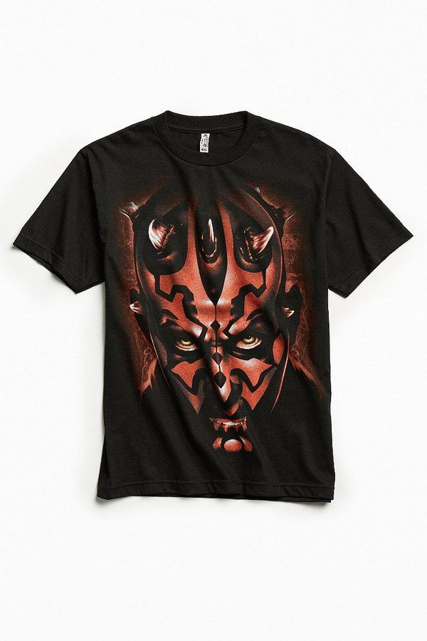 Urban Outfitters Star Wars Darth Maul Face Tee