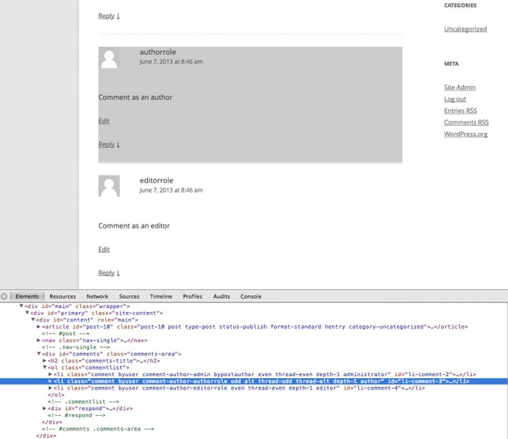 Add to comment_class for custom user roles.