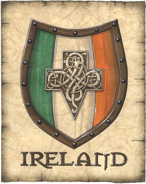 Ireland Crest Artwork by Geographicsart on Etsy, $19.50