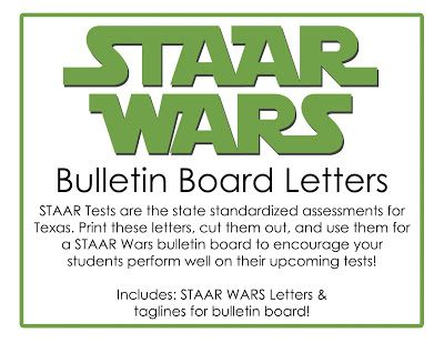 This Little Teacher: STAAR Wars Bulletin Board Designs - Texas Standardized Testing