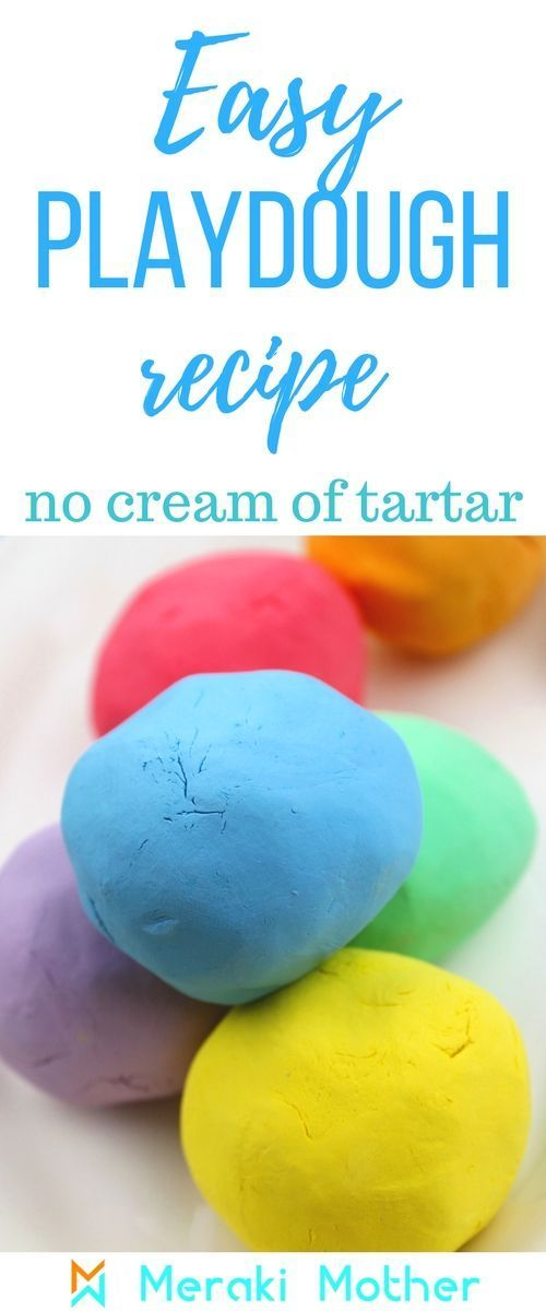 How to make playdough without cream of tartar and no cooking