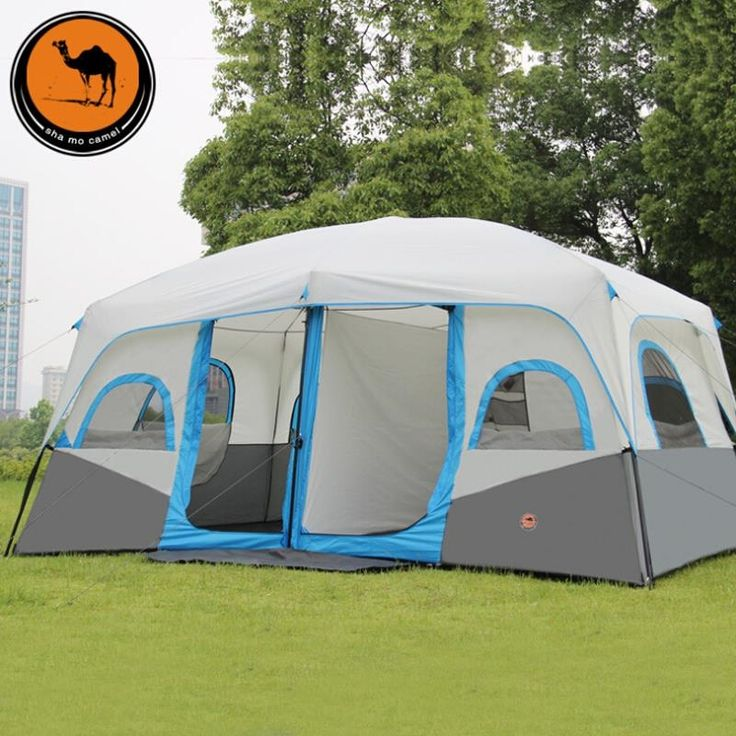 294.38$  Buy now - http://ali4ka.worldwells.pw/go.php?t=32587825457 - outdoor tent 10-12 man hiking opportunites with double tents wind rain telescopic auto tents