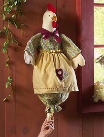 Rooster bag holder - save the planet - save your bags!
