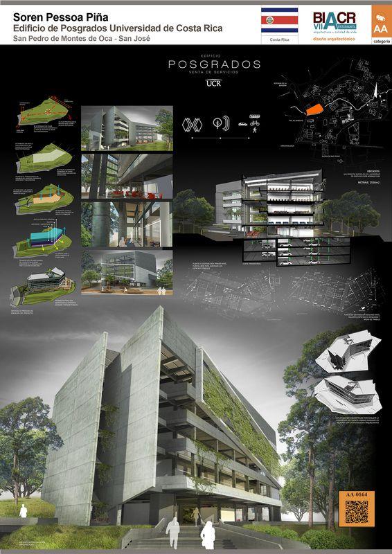 Edificio de Posgrados UCR Universidad de Costa Rica, Board Architectural Bienal…