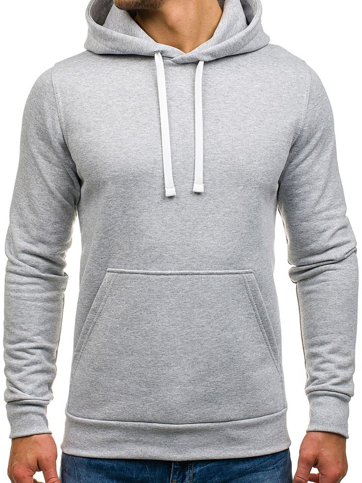 Grey men's cotton sweatshirt Manufactured for Bolf by S7 The model (182 cm, 82 kg) is wearing size XL Manufactured in EU Fabric: 100% Cotton