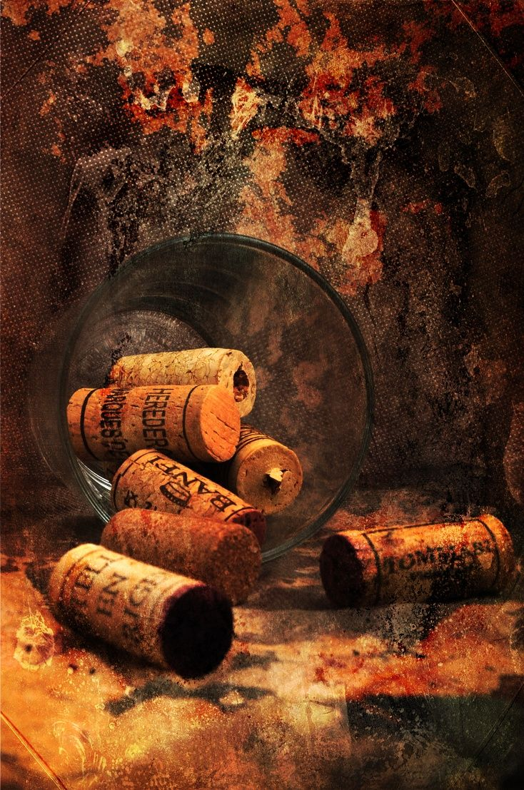 ARTFINDER: The  Party is Over by Randi Grace Nilsberg - There is something special about a real wine cork.  It has traditions and it's natural.  Todays plastic corks and screw corks don't have the same elegance, d...