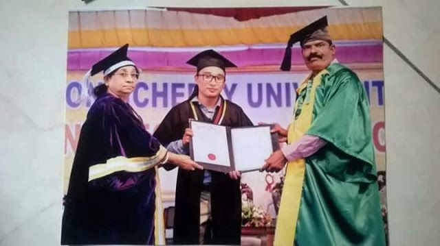 Darjeeling Boy Sangay Tamang Tops Pondicherry University - Gets Prestigious Gold Medal   It is a moment to take pride on one of our own brothers Sangay Tamang who has given us another reason to cheer and celebrate this Dashain.  Sangay has achieved a rare distinction by securing 1st Class 1 in MA in Sociology for which he has been confered the prestigious Gold Medal by Pondicherry University at its recently held 24th Annual Convocation.  Born to Bom Bahadur and Manmaya Tamang Sangay a…