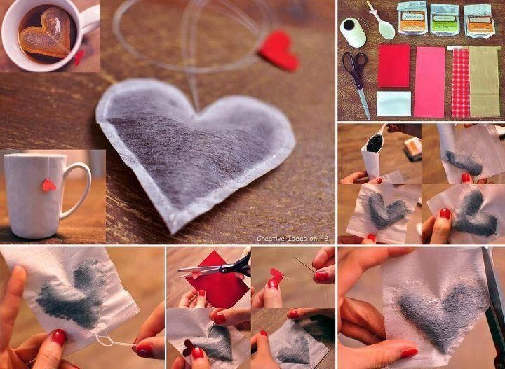 Hartjes thee zakjes, knutselen, kinderen, basisschool, moederdag, foto tutorial, craft, children, elementary school, Mothersday, gift idea, beterschapskaart, kaarten maken,