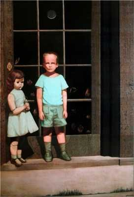 Hands Resist Him  By Bill Stoneham    ...This painting is creepy enough, but past owners all claim that their own children see the children in the painting walking stepping out of the painting and walking around the house...creeptastic