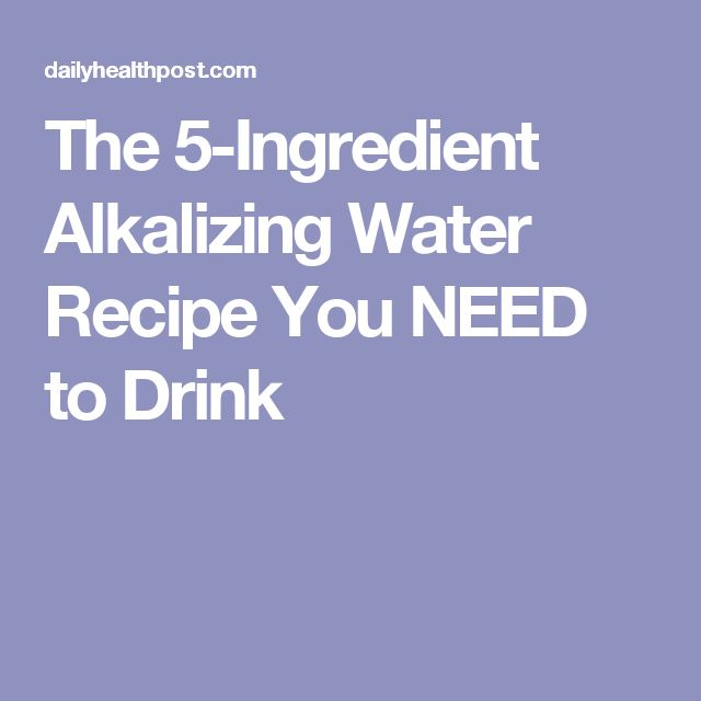 The 5-Ingredient Alkalizing Water Recipe You NEED to Drink