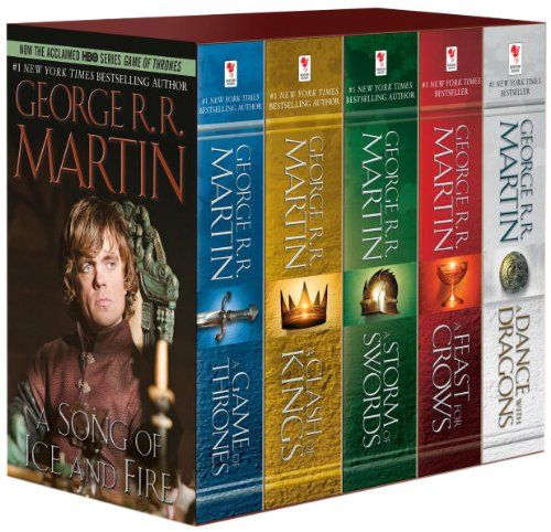 All five novels in the epic fantasy series that inspired HBO's Game of Thrones are together in one boxed set.