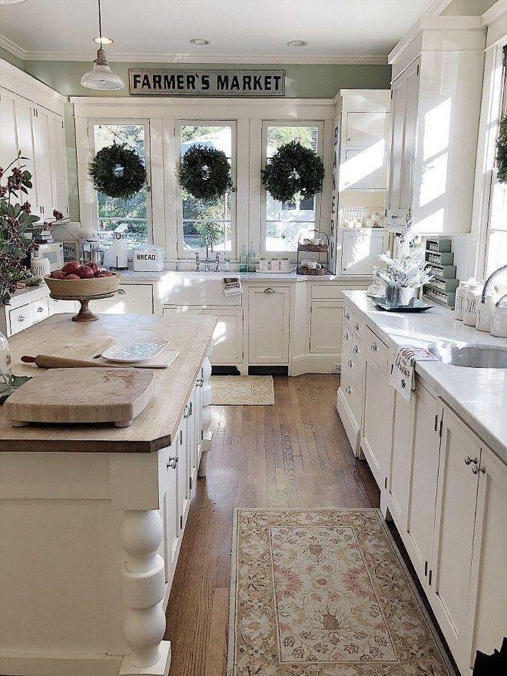 95 Farmhouse Kitchen Ideas On A Budget Kitchen Remodel Small Farmhouse Kitchen Countertops Kitchen Design Countertops