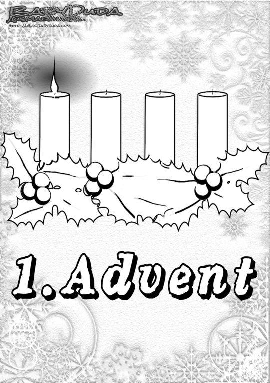 Kerzen zum Ausmalen in der Adventszeit Ausmalbilder ...