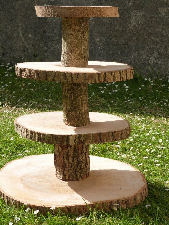 4 Tier Cupcake Stand Kit. Rustic and Ideal for by MHWoodland