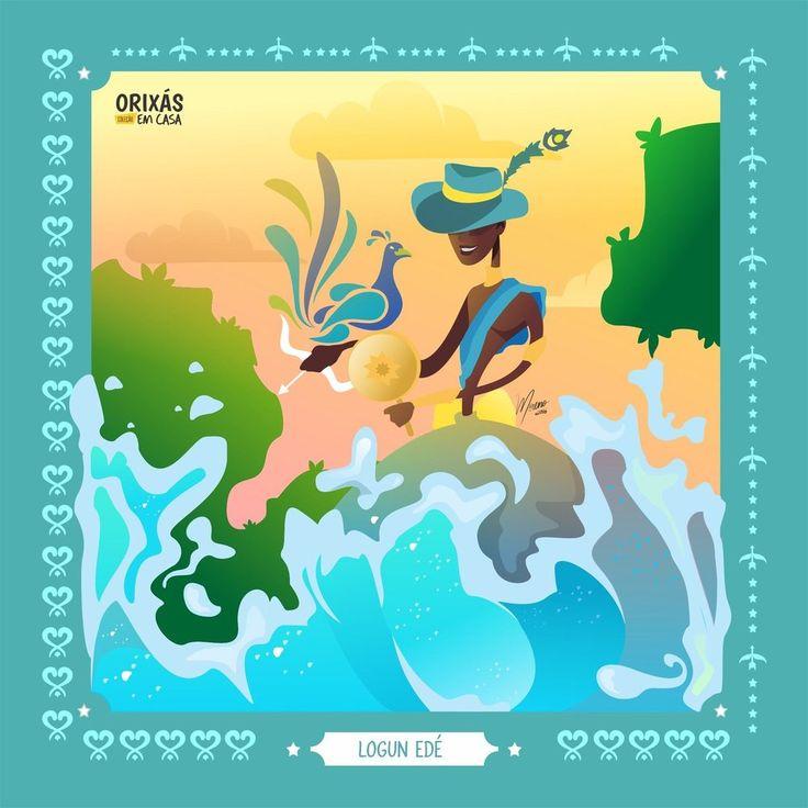LOGUN EDE - Magia do Axé - see http://www.magiadoaxe.com/azulejo-logun