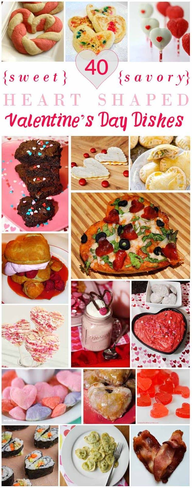 40 Sweet and Savory Heart Shaped Valentine's Dishes