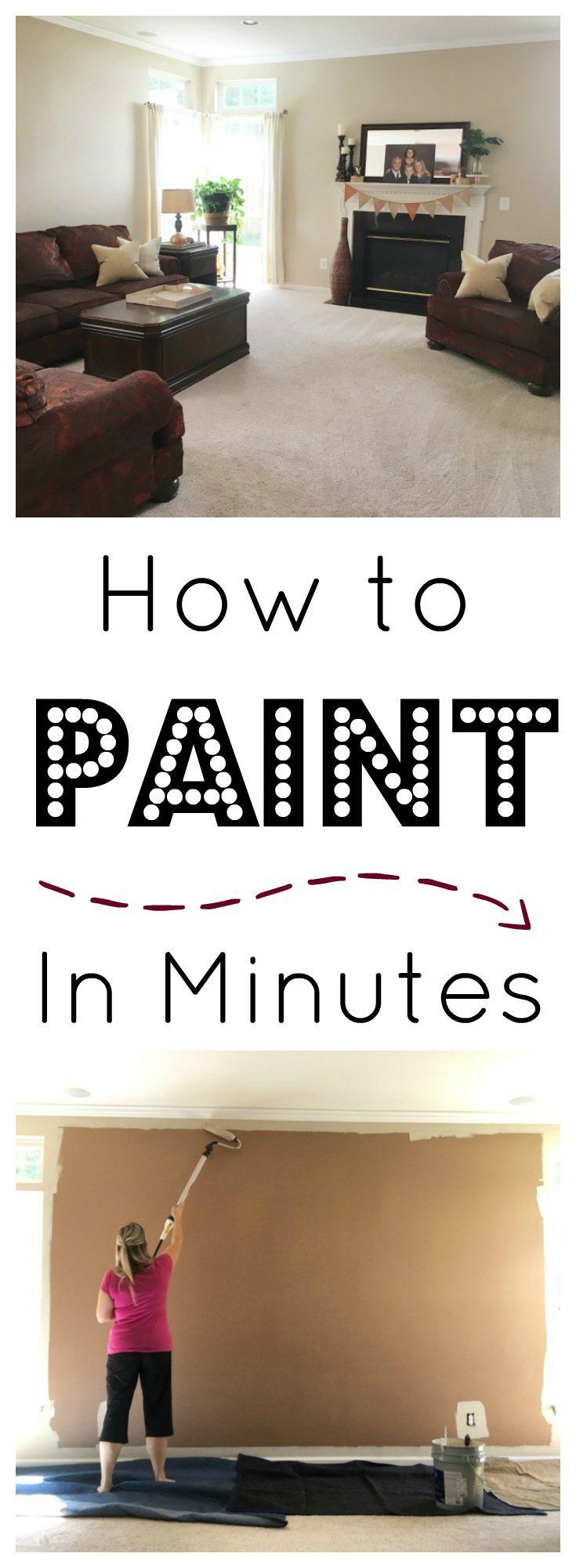 how to paint a room before and after how to paint in minutes on www.sugarbananas.com with sherwin williams and wagner smart paint roller